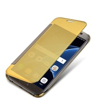 Samsung Galaxy S8 - Husa Gold Book Cover Clear View