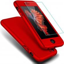 Husa iPhone 5 si 5S SE Rosie 360° Matte Premium Ultra Slim cu Folie de Sticla