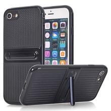 Husa iPhone 6 si 6S Carbon Texture Black Cu Suport Wide