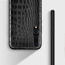 Husa pentru Huawei P30, Pro cu protectie ridicata, TPU + Crocodil Design, rezistenta la socuri, negru