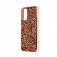 Husa pentru Samsung Galaxy S20 PLUS - Husa Luxury Glitter Diamond Rose-Gold