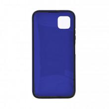 Husa Samsung Galaxy A41 - 360 Fully cu Spate din Policarbonat si Folie din Silicon - Blue