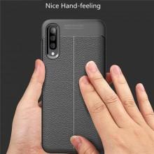 Husa Samsung Galaxy A50 | A50s | A30s Neagra din TPU cu Design de Tip Piele