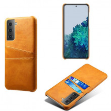 Husa Samsung Galaxy S21 FE, Dual Card Slots, galben, S21FE-003