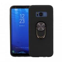 Husa Samsung Galaxy S8 PLUS Neagra Din Policarbonat Premium cu Inel Rotativ