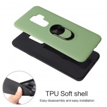 Husa Samsung Galaxy S9 Verde Din Policarbonat Premium cu Inel Rotativ