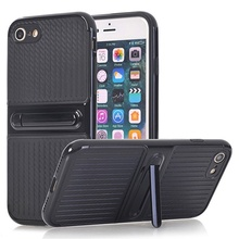 iPhone 6 si 6S - Husa Carbon Texture Black Cu Suport Wide