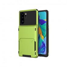 Husa Huawei P Smart 2019 - Book Type Card Holder, verde, HWPS2019-005