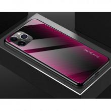 Husa iPhone 11 PRO - Husa Pro Shield Glass Rosu cu Efect Gradient