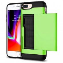 Husa iPhone 7-8 PLUS Verde Antisoc Cu Buzunar Pentru Card