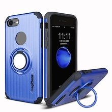 Husa iPhone 7 | 8 | SE (2020) magPhone Antisoc Blue Cu Inel Rotativ
