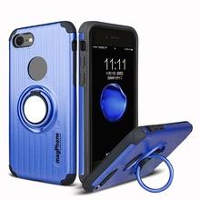 Husa iPhone 7 sau 8 magPhone Antisoc Blue Cu Inel Rotativ