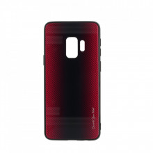 Husa pentru Samsung Galaxy S9 - Husa Pro Shield Glass Rosu cu Efect Gradient