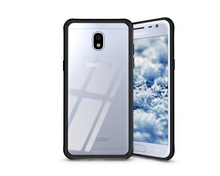 Husa Samsung Galaxy J3 (2017) Transpatenta De Silicon Cu Margini Negre