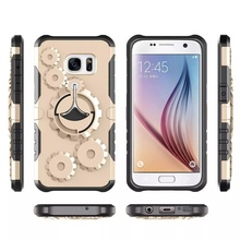 Husa Samsung Galaxy J5 PRIME Antisoc Gold Gear Design Cu Suport