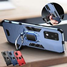 Husa Samsung Galaxy S20 Ultra Bleumarin Military cu Inel