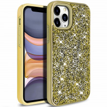 Husa iPhone 11 PRO - Husa Luxury Glitter Diamond Gold