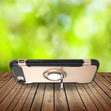 Husa iPhone 7 sau 8 Gold Carbon Cu Inel Rotativ