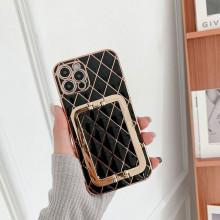 Husa pentru Apple iPhone 12, cu protectie ridicata, Fashion, tip geantuta, silicon, negru IP12-004