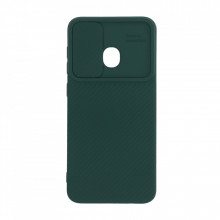 Husa Samsung Galaxy A30 - Silicon Antisoc cu Protectie Glisanta Pentru Camera - Verde