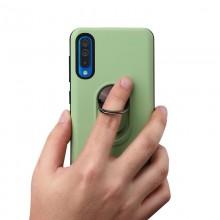 Husa Samsung Galaxy A70   A70s Verde Din Policarbonat Premium cu Inel Rotativ