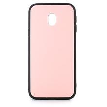 Husa Samsung Galaxy J3 (2017) Glass Antisoc Roz Cu Margini Negre