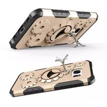 Husa Samsung Galaxy J5 PRIME Antisoc Gold Gear Design Cu Suport