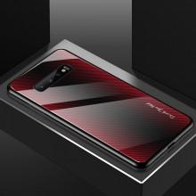 Husa Samsung Galaxy S10e - Husa Pro Shield Glass Rosu cu Efect Gradient