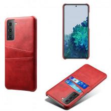 Husa Samsung Galaxy S21 FE, Dual Card Slots, rosu, S21FE-004