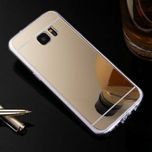 Husa Samsung Galaxy S7 Edge Silicon Mirror Gold