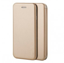 Samsung Galaxy J4 PLUS - Husa Flip Book Cover Cu Magnet Gold