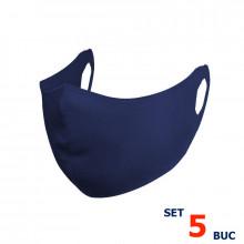 Set 5 buc Masca protectie pentru fata Fashion, Culoare Bleumarin