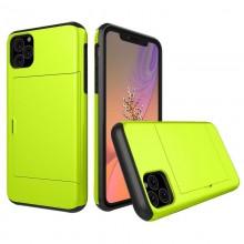 Husa iPhone 11 Verde Antisoc Cu Buzunar Pentru Card