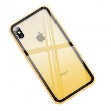 Husa iPhone XS Max Galbena Gradient Antisoc