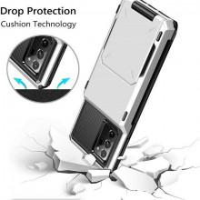 Husa Huawei P40 Pro - Book Type Card Holder, alb, HWP40PRO-001