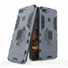 Husa Huawei Y6 | Y6 Prime | (2018) Antisoc Bleumarin Military cu Inel