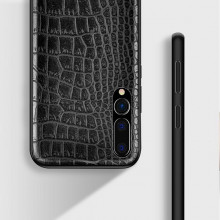 Husa pentru Huawei Mate 30, Pro cu protectie ridicata, TPU + Crocodil Design, rezistenta la socuri, negru