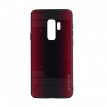 Husa pentru Samsung Galaxy S9 PLUS - Husa Pro Shield Glass Rosu cu Efect Gradient
