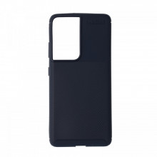 Husa Samsung Galaxy S21Ultra flexibila din silicon, albastru S21U-M1-V1