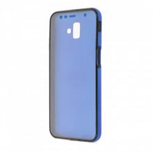 Husa Samsung Galaxy S9 PLUS - 360 Fully cu Spate din Policarbonat si Folie din Silicon - Blue