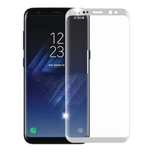 Samsung S8 - Folie Curbata Tempered Glass Silver