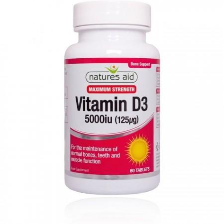 Vitamina D3 5000iu Natures Aid®