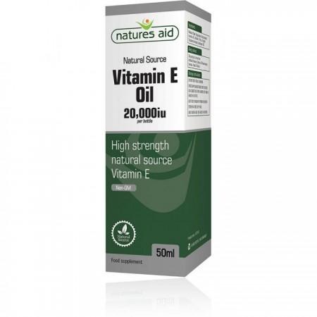 Vitamina E uleioasa (400 iu/ ml) Natures Aid®