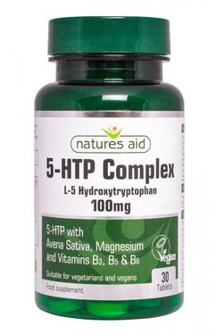 5-HTP Complex 100mg Natures Aid, 30 comprimate