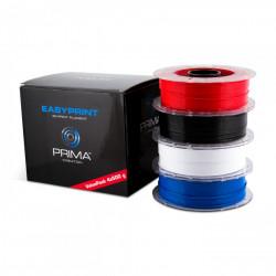 EasyPrint PLA Value Pack Standard - 1.75mm - 4x 500 g (Total 2 kg) - White, Black, Red, Blue