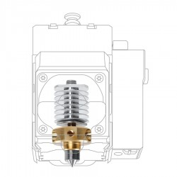 XYZprinting Jr. Pro Quick Release Hardened Steel Nozzle Extruder 0.4 mm