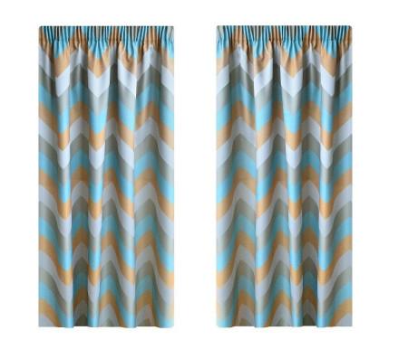 Set draperie W4833,1 cu rejansa de 8cm