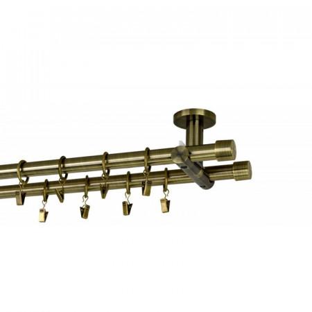 Galerie dubla prindere tavan suport universal- Capacel 19/19 - aur antic
