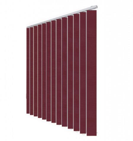 Jaluzele verticale Cora 5064 visiniu inchis