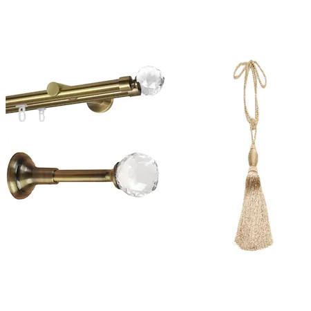 Set galerie dubla Kula Crystal aur antic , rozete Kula Crystal si Canafi Larissa